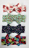 Floral Cotton Bow Headband