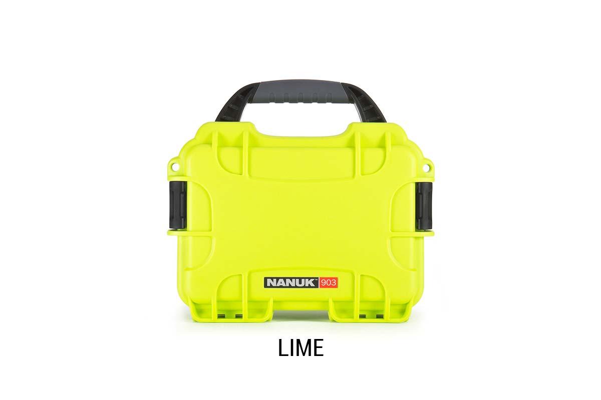 Nanuk 904 Case w/foam Lime