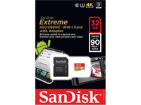 SanDisk Extreme 32GB microSDHC Class 10, U3 Up to 90MB/s Speed