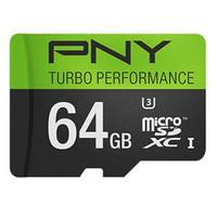 PNY 64GB Turbo Performance Class 10 microSDXC 90MB/S Read 4K Ultra HD U3