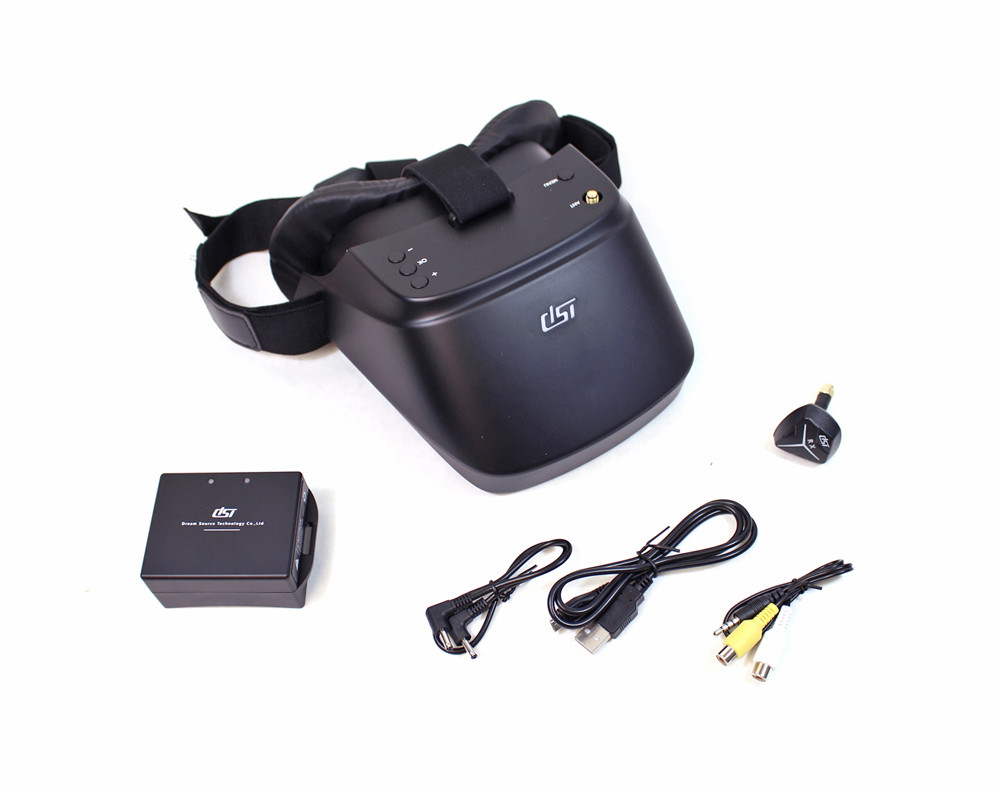 DST FPV-01 5.8 GHz FPV Googles w/ included 2S Lipo and Charger (DSTFPV-01)
