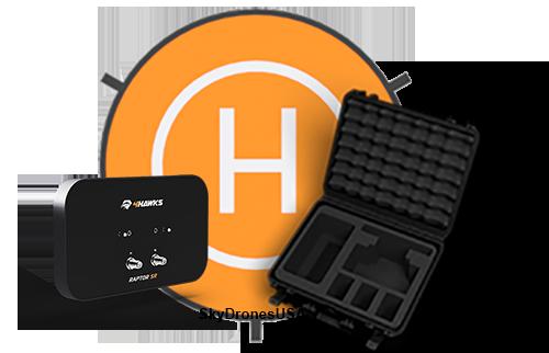 4Hawks Bundle | Raptor SR Antenna | Case | Landing Pad for DJI Mavic Air (S101)