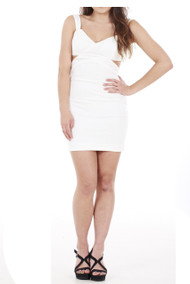 Cut Out Dress (Ivory) Luv2nv
