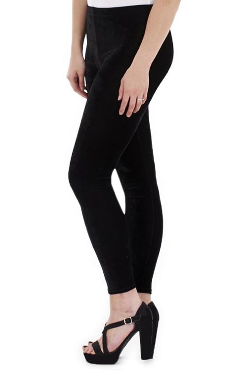 Black Velour Leggings luv2nv