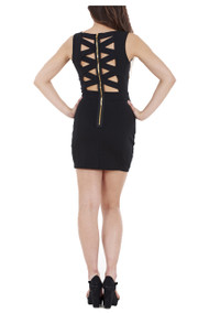 Cut Out Cross Back Dress luv2nv