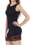 Bianca Black Sleeveless Lace Dress luv2nv