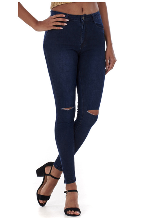 Alice Ripped Knee Skinny Jeans luv2nv