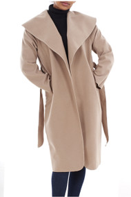Alicia Waterfall Coat Camel luv2nv.com