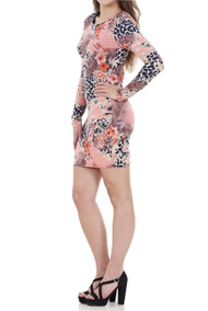 Dori Floral Midi Bodycon Dress luv2nv.com