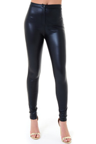 Pleather Zip Fly Leggings, luv2nv leggings,
