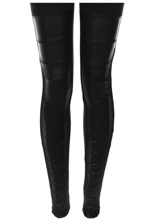 Petra PU Mesh Leggings