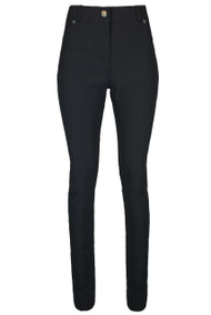 Ladies High Waist 1 button Skinny Trousers – Black