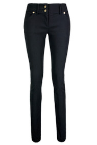 2 Button Skinny Trousers – Black