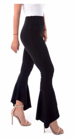 Black Frill Hem Trouser, Luv2nv.com, Trousers,