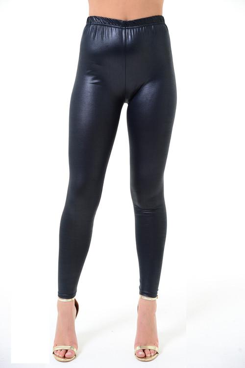 Black Wet Look Leggings, Black Leggings, Luv2vn Leggings,