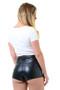 Annabelle High Waist PU Shorts