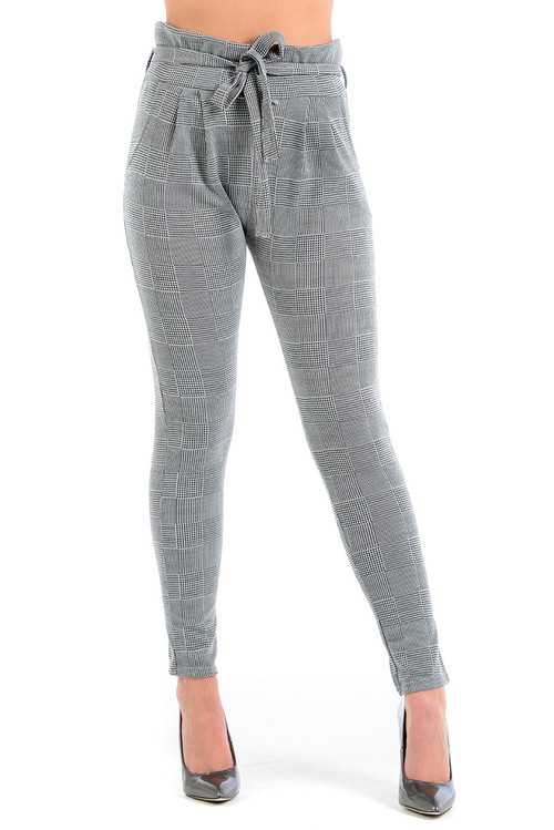 Adina Check Tie Top Trousers
