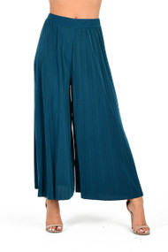 Teal Pleated Culottes, Ladies Culottes, Ladies Blue Culottes,