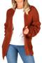Rust Bobble Sleeve Cardigan, Rust Cardigan, Bobble Cardigan,  Bobble Knitted Cardigan, Rust Cardigan,