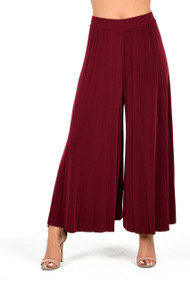 Wine Pleated Culottes, Ladies Culottes, Ladies Wine Culottes,