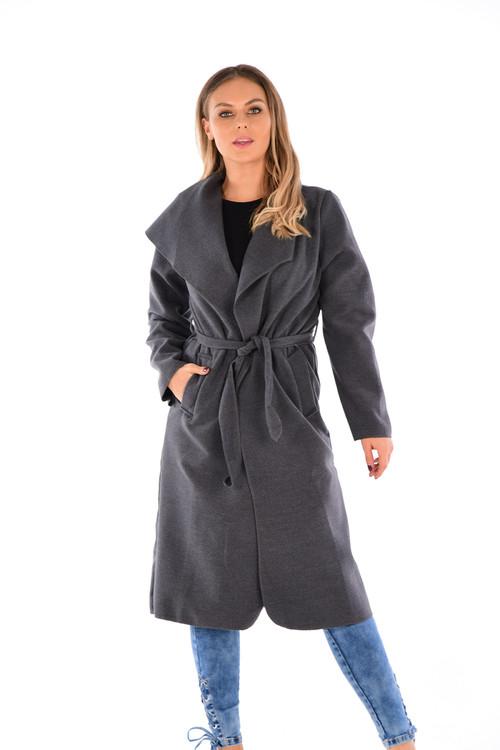 Waterfall Duster Coat, Dark Grey Waterfall Duster Coat, Luv2nv, Duster Coat, Drape Coat,
