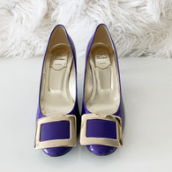 NEW Roger Vivier Patent Belle De Nuit Pumps