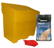 Brown Rock Salt, Grit Bin & Hand Scoop