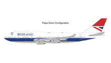 GeminiJets British Airways Boeing 747-400 G-CIVB Negus Livery Flaps Down 1/200 G2BAW841F