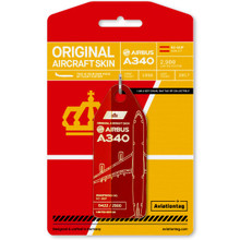 Aviationtag Airbus A340 – EC-GUP Red/Dark Red