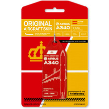 Aviationtag Airbus A340 – EC-GUP Red