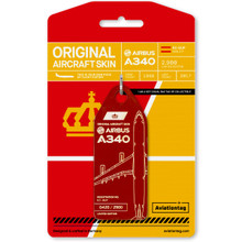 Aviationtag Airbus A340 – EC-GUP Dark Red