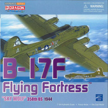 "Dragon Warbirds B-17F Flying Fortress 358th BS ""Sky Wolf"" 1/144 DW51006"