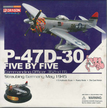 Dragon Warbirds P-47D-30 Five by five Command. Officer 362nd FG, Straubing 1945-1/72 DW50211