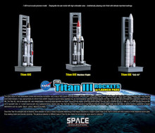 Dragon Space Titan Rockets w/Launch Pads 3 Rockets by sets - 1/400 DW56395