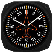 Trintec Directional Gyro Wall clock 25x25cm TC3062