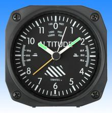 Trintec Altimètre style - réveil/Travel Alarm clock  -  9x9cm TCM60