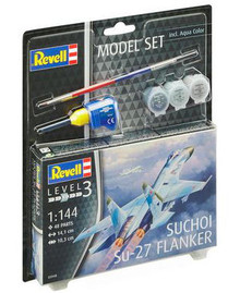 Revell Model Set - Suchoi Su-27 Flanker (1:144 Scale) RL63948