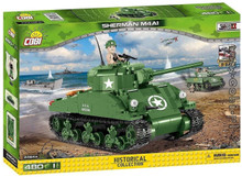 Cobi Sherman M4A1 Small Army WWII 400 Building Bricks