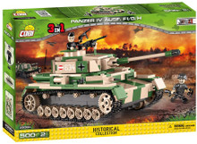Cobi Small Army-PZKPFW UASF. FI Panzer IV Ausf.F1/G/H Construction Toy, Green, Beige