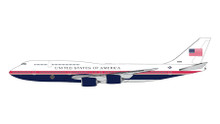GeminiJets US Air Force One Boeing 747-8 30000 New Red, White, Blue Livery 1/400 GJSFR1248