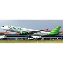 JC Wings JGARUDA INDONESIA CITILINK AIRBUS A330-900NEO REG: PK-GYC WITH ANTENNA 1/400  C4399