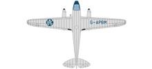 Oxford Air Couriers Ltd. DH Dragon Rapide RAC Aerial Patrol  1/72