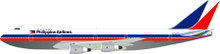 Inflight200 Philippine Airlines Boeing 747 N714PR 1/200 IF27420615PA