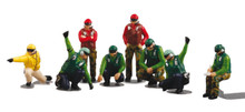 Herpa US NAVY Deck Crew - Launch Team (8 Figures) 1/72