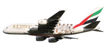 "Herpa Snap-Fit Emirates Airbus A380 ""Real Madrid"" 1/250"