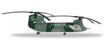 """Herpa Italian Army Boeing Vertol CH-47C Chinook - EI-801, 26°Gruppo Squadroni 'Giove' 1°Reggimento dell'Aviazione dell'Esercito """"Antares"""" - """"Chinook 40 Years"""" 1/200"""