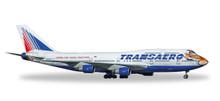 """Herpa Transaero Boeing 747-400 """"Amur Tiger"""" 1/500 529464"""