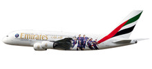 "Herpa Snap-Fit Emirates Airbus A380 ""Paris St. Germain"" 1/250 611152"
