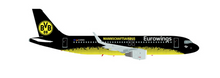 "Herpa Snap Fit Eurowings Airbus A320 ""BVB Mannschaftsairbus"" 1/200"