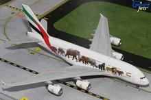 "GeminiJets Emirates Airbus A380 ""Wildlife 1"" 1/200"